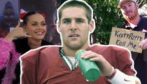 Katy Perry -- Incomplete Pass On College Football Stud
