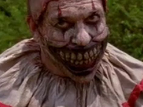 "Twisty the Clown Steals ""American Horror Story"" Premiere -- See What's Under That Freaky…"
