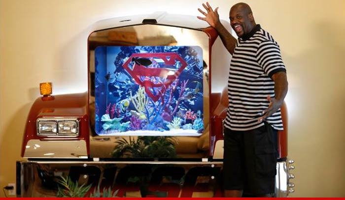 shaquille o 39 neal even my fish are diesel shows off
