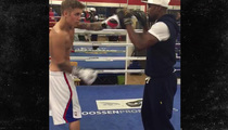 Justin Bieber -- BOXING WITH MAYWEATHER ... No Shirt (Of Course)
