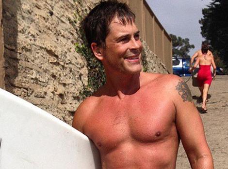 Rob Lowe Looks Hot in Shirtless Photo, Despite Bloody Surfing Injury