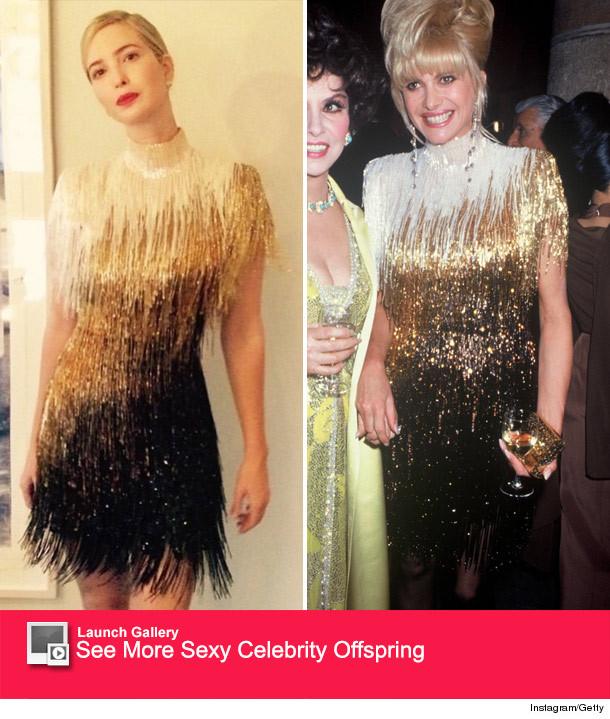 Ivanka Trump Wears Mother Ivana\'s Bob Mackie Dress -- 23 Years Later ...