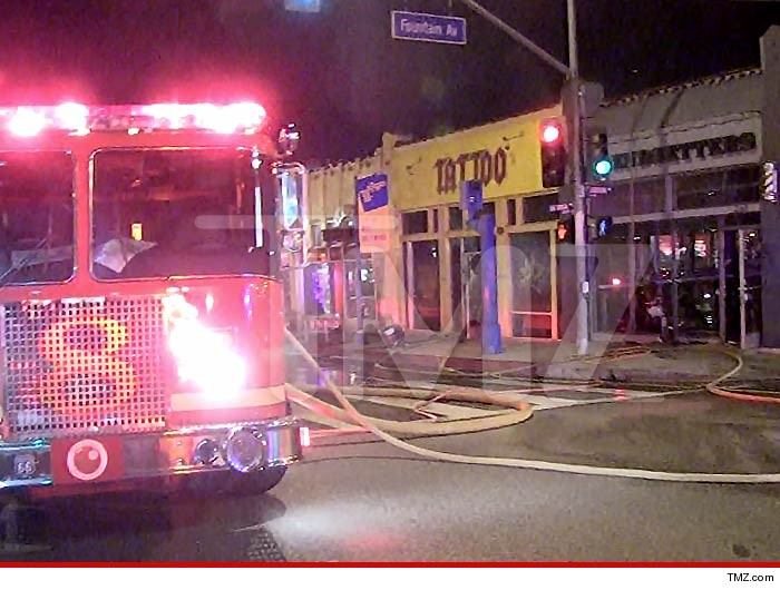Kat von d tattoo shop burning for Fire and ice tattoo shop