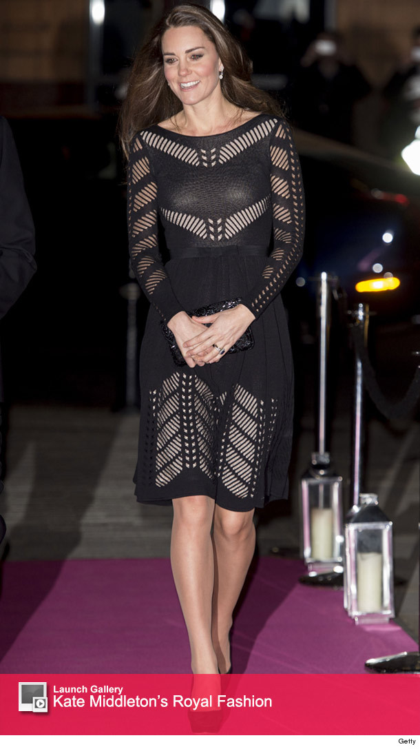 Kate Middleton Conceals Her Tiny Baby Bump In Sheer Black Dress