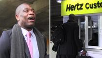 Dikembe Mutombo -- Hilarious Rental Car Fail ... I'm Too Damn Big!!