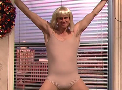 "Jim Carrey Has Epic Dance-Off to Sia's ""Chandelier"" on ""SNL"""