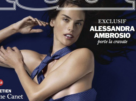 Alessandra Ambrosio Poses Completely Naked for Lui