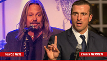 Vince Neil & Ex-NBA Star Chris Herren -- Go To Rehab ... And Raise $100K!!