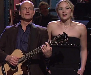 """The Hunger Games"" Cast Crashes Woody Harrelson's ""SNL"" Monologue"
