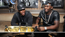 Dez Bryant -- Poppin' Bottles, Flossin' Jewelry ... At Roc Nation Welcome Bash