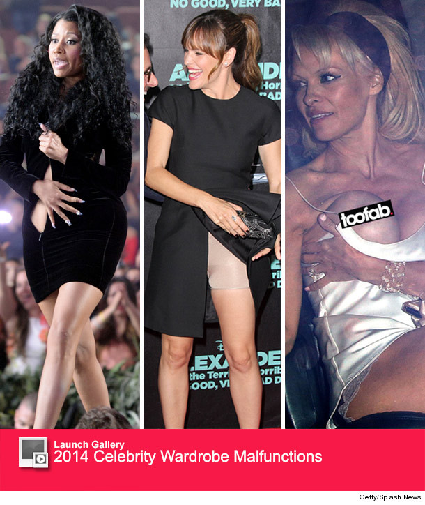 Celebrity clothing mishaps
