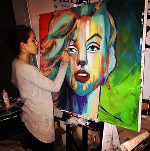Brittney Palmer's Painting Pics
