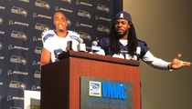Richard Sherman -- Taunts NFL For Fining Marshawn Lynch $100K ... You're Hypocrites (VIDEO)