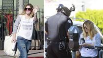 Drew Barrymore -- Street Rebel Gets Ticket For Walking ... Dangerously