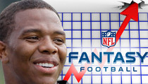 Ray Rice -- Fantasy Football Boom ... Becomes #1 Added Player in Minutes