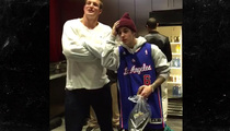 Justin Bieber -- Invades Clippers Locker Room ... with Gronk!!!