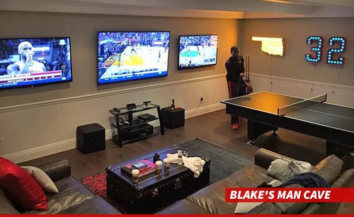 Man Cave Eats : Blake griffin reveals man cave many questions arise