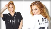 Lindsay Lohan -- Scores Clothing Line with Addict Status