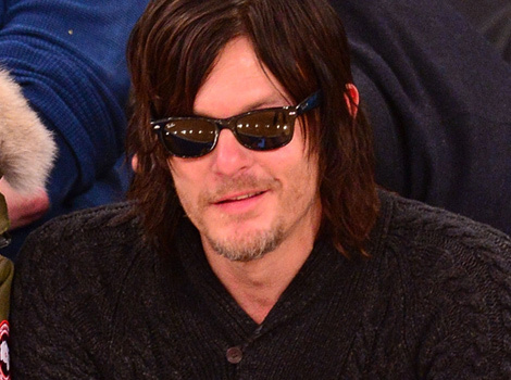Norman Reedus Attends Basketball Game With Son Mingus -- Who Looks JUST LIKE…