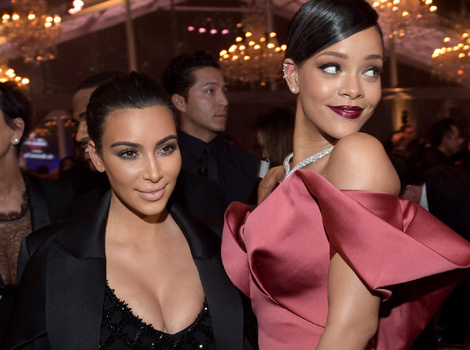 Kim Kardashian, Salma Hayek & Adrienne Bailon Attend Rihanna's Diamond Ball