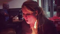 Urban Meyer's Wife -- HAIR CATCHES ON FIRE ... During BDay Dinner