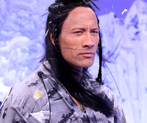 Dwayne Johnson and Jimmy Fallon Have Intense Staredown -- See The Rock With Long Hair!