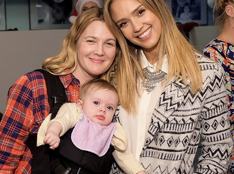 Drew Barrymore Attends Event with Lookalike Daughters, Olive & Frankie