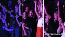 Taylor Swift -- Full Fan Girl at Justin Timberlake Concert