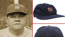 Babe Ruth -- SIX-FIGURES for Ultra-Rare Baseball Cap ... Original Jordans Auctioned Too
