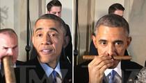 President Obama -- Cuban Cigar Crisis ... La Foto Es Verdad