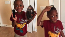 Dwight Howard's Son -- Cutest Litte Pitchman Ever ... For Michael Vick's Brush