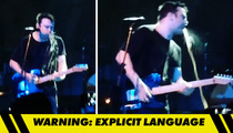 Say Anything Lead Singer Pukes On Stage ... On Unluckiest Security Guard Ever (VIDEO)