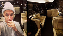 Justin Bieber -- Private Jet Poser ... He Doesn't Own It