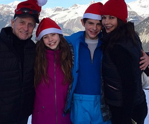 Catherine Zeta-Jones Shares Rare Pic with Kids and Michael Douglas
