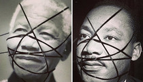 Madonna Defends Altered Pictures ... Of Martin Luther King and Nelson Mandela