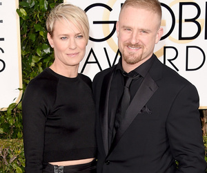 Game On! Robin Wright & Ben Foster Attend Golden Globes Together