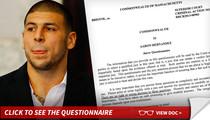 Aaron Hernandez -- Pop Quiz, Juror ... You're a Patriots Fan, Aren't You?