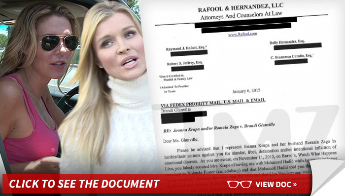 Joanna Krupa -- If Brandi Glanville Thinks My Vagina Stinks, Wait Till She Smells This Lawsuit