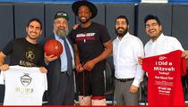 Dwyane Wade -- Quadruple Rabbi Blessing ... Before Beating Lakers