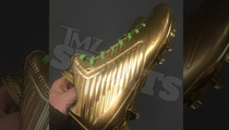 Marshawn Lynch -- All Gold $1,000 Dollar Cleats ... To Stomp The Packers