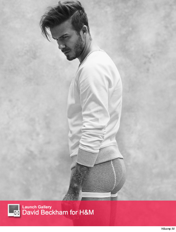 David Beckham Shows Off His Sexy Bod And Booty For Latest Hm
