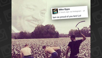 Mike Epps --  Celebrates Slavery & MLK with Racist Photo
