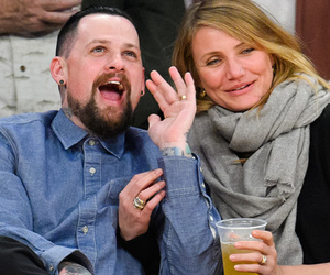 Newlyweds Cameron Diaz & Benji Madden Pack on the PDA for Lakers' Kiss Cam!