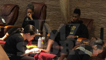 NBA Star Iman Shumpert -- Pedicures And Red Wine ... With Famous GF