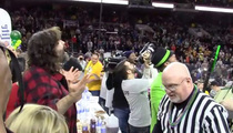 Mick Foley -- EJECTED FROM WING CONTEST ... You Cheated!!