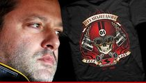 Tony Stewart -- Selling SKULL Shirts ... After Race Track Death