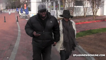 Bobby Brown -- Somber Walk to Visit Bobbi Kristina in Hospital (VIDEO)