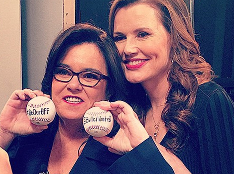 "Rosie O'Donnell & Geena Davis Have an ""A League of Their Own"" Moment!"