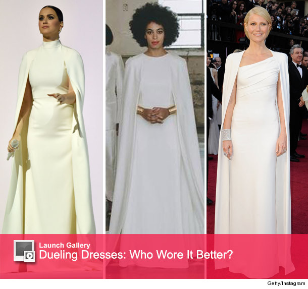 Dueling Dresses: Katy Perry\'s Grammy Gown vs. Solange & Gwyneth ...