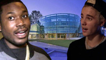 Meek Mill Party -- Justin Bieber's Glass House Trashed ... Cops Called